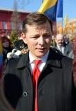 Oleg Lyashko-Führer der radikalen Partei stockbilder