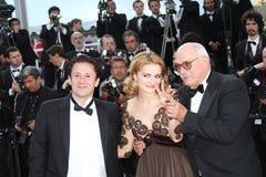 Oleg Menshikov, Nadezhda and Nikita Mikhalkov Royalty Free Stock Image