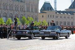 Oleg Salyukov och Sergey Shoygu Royaltyfria Foton