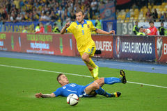 Oleh Gusev is Jumping over the opponent Stock Photos