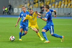 Oleh Gusev between two rivals Stock Images