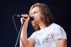 Oleh Sobchuk, rockband S.K.A.Y. Royaltyfri Fotografi