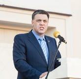 Oleh Tiahnybok speaks at election meeting in Uzhgorod Stock Image