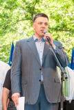 Oleh Tyahnybok fournit un discours Photos libres de droits