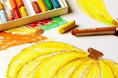 Oleie o desenho de Pastels Foto de Stock Royalty Free