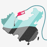 Olej Chiny royalty ilustracja