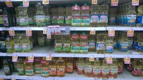 Olej do smażenia sprzedawanie przy sklepem Obraz Stock