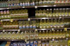 Olej do smażenia w sklepie spożywczym Obraz Royalty Free