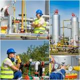 oleju gazowego przemysłu Fotografia Stock
