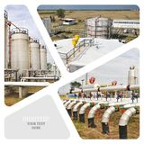 oleju gazowego przemysłu Obrazy Stock