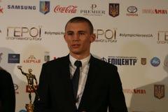 Oleksandr Khyzhniak na conferência de imprensa fotos de stock