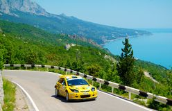 Oleksandr Saliuk on the IRC Prime Yalta Rally 2011 Stock Images