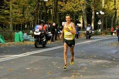 Oleksandr Sitkovskiy der Sieger von Florenz-Marathon 2013, Italien Lizenzfreie Stockbilder