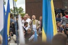 Oleksandr Turchynov, ha parlato ad un raduno dell'opposizione Immagini Stock Libere da Diritti
