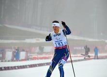 Oleksandra Kononova (Ukraina) konkurrerar på vinterParalympic lekar i Sochi Royaltyfri Foto