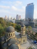 Oleksandrovsky医院的教会 免版税库存图片