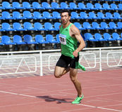 Oleksey Kasianov on Ukrainian Track and Royalty Free Stock Photography