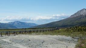 Oleoducto de Alaska Imágenes de archivo libres de regalías