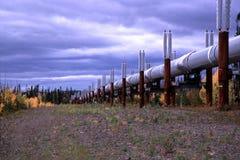 Oleoducto de Alaska Fotos de archivo libres de regalías