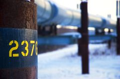 Oleoducto de Transporte-Alaska imagenes de archivo