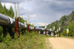 Oleoducto del transporte Alaska Foto de archivo libre de regalías