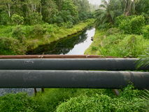 Oleoductos Fotos de archivo libres de regalías
