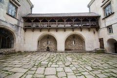 Olesko,乌克兰- 2017年5月02日:对历史的城堡的看法在Olesko,利沃夫州地区,乌克兰 免版税图库摄影