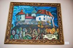 Olesko, Украина - 24-ое июля 2018: Картина замка в искусстве стоковое изображение
