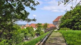 In Olesko castle. Inside the ancient Olesko castle Royalty Free Stock Photo
