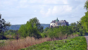 Olesko castle. A view of the ancient castle Olesko Stock Photo