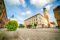Olesnica City Center Stock Images