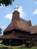 Olesno Wooden Church. A famous wooden church at Olesno in the Silesian part of Poland on a summer day Stock Photo