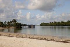 Oleta-Fluss-Strand stockfotos