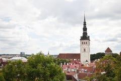 Oleviste-Kathedrale Heiliges Olaf in der alten Stadt von Tallinn Estland Lizenzfreies Stockfoto