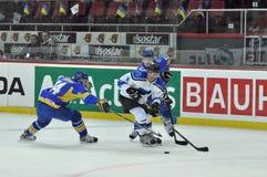 Olexander Pobedonostsev tries to reach goals Stock Photo