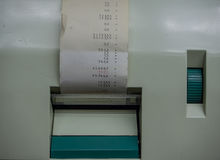 The olf  cash register with receipt ,macro Royalty Free Stock Photos