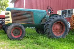 Olf Vintage Farm Tractor, Machine royalty free stock images