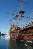 Olg galleon Stock Photography