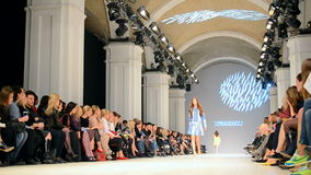Olga ALONOVA presentation, Ukrainian Fashion Week 2015,. KIEV - OCT 14, 2015: Olga ALONOVA presentation during Ukrainian Fashion Week 2015 on October 14, 2015 in stock video footage