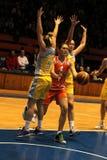 Olga Arteshina in basketball Euroleague Stock Images