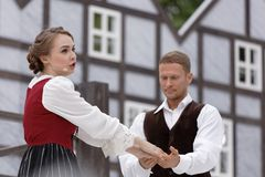 Olga Cheremnykh in the Opera The Marksman outdoors Stock Photography