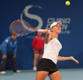 Olga Govortsova in action at 2010 China Open Stock Images