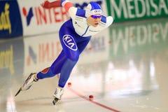 Olga Graf - patinaje de velocidad largo de la pista Imagenes de archivo