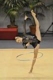 Olga Stryuchkova Rusia que se realiza en el aro Foto de archivo libre de regalías