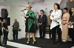 Olga Sviblova, dyrektor Multimedialny sztuki muzeum w Moskwa Obraz Stock