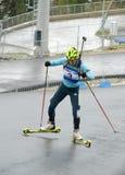 Olga Zaitseva on RBU Championship of Russia in the summer biathlon in Sochi Stock Photo