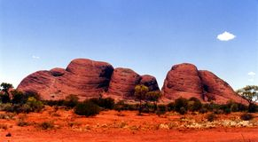 Olgas - Australia. Olgas located in Northern Territory - Australia Royalty Free Stock Images
