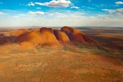The Olgas - Kata Tjuta - Australia, aerial view. Royalty Free Stock Photo