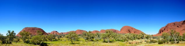 The Olgas Kata Tjuta Panorama Stock Photography