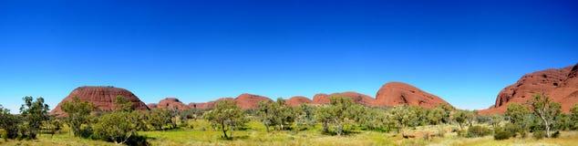 The Olgas Kata Tjuta Panorama. The Olgas Kata Tjuta in Outback Australia Stock Photography